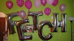 Best way to fill a large wall - letter balloons!