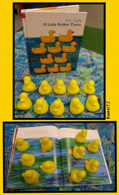 """Counting fun with the book, '10 Little Rubber Ducks' from Rachel ("""",)"""