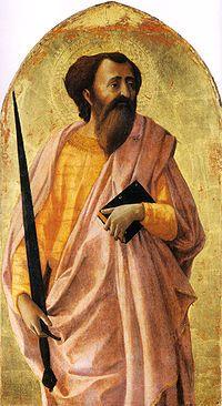 Masaccio, San Paolo, 1426, Tempera su tavola, Museo nazionale di San Matteo, Pisa.