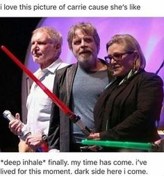 "Meanwhile Mark is like ""what the heck?"".<<< Harrison is holding the blade."