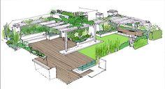 diseño de jardín en atico