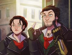 Jacob and Evie Frye art AC Syndicate I AIN'T SCARE OF NO THINGS