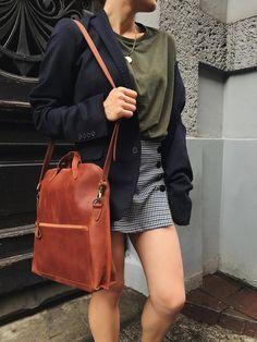 a18ee64d34c81 Cognac Brown Leather shoulder bag   Women s bag   Leather Handbag    Handcrafted leather purse