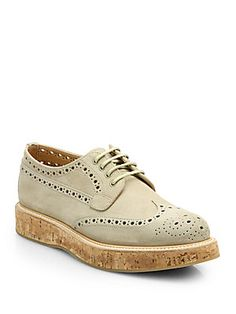 Church's Keely Perforated Suede & Cork Brogues