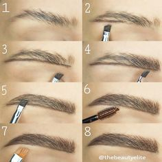Eyebrows Shapes for Girls with Long and Diamonds Fase Shapes picture 2 Loading. Eyebrows Shapes for Girls with Long and Diamonds Fase Shapes picture 2 Eyebrow Makeup Tips, Applying Eye Makeup, Beauty Makeup, Makeup Eyebrows, Makeup Kit, Eyebrow Products, Eyebrow Brush, Eyebrow Pencil, Prom Makeup