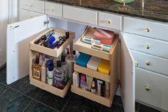 Under-Sink Storage Bathroom Organizer | HouseLogic Storage and Organization Tips