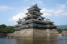 Japanese castle - Matsumoto Castle in Nangano Prefecture, a National Treasure