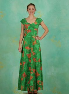 Kleid, Sitges, fish-green