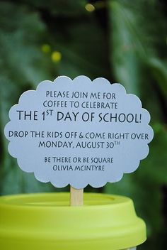 PTO, PTA Back to School Get Together Invitation.First morning of school for new parents Pta School, School Events, School Daze, School Teacher, School Ideas, School Tips, School Counseling, Back To School Party, Back 2 School