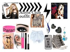 """""""Allyis club outfit"""" by daltons-fallen-angel ❤ liked on Polyvore featuring Levi's, Ash, Kate Spade, shu uemura, Max Factor, Hot Tools and Reeds Jewelers"""