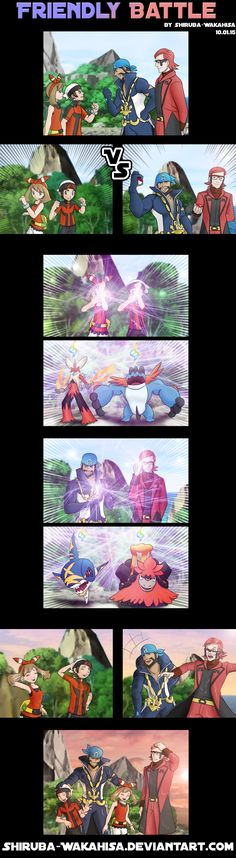 Aw! :D Double megas! I love fighting with Archie in the maison though, multi battles are great