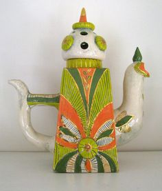 OOAK Handmade Ceramic Collection Teapot di ceramicsartdaniel