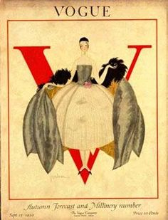 Know your fashion history: Vintage Vogue magazine covers: early covers through to the 1950s
