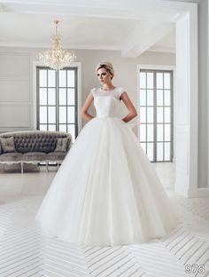 View Dress - Sans Pareil Bridal Collection: 978 - Crystal embellished lace yoke…