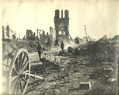 Cloth Hall in Ypres- World War One