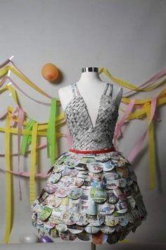 Newspaper prom dress