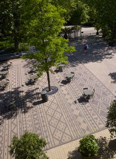 Landscape And Urbanism, Landscape Architecture Design, Urban Landscape, Pavement Design, Paving Pattern, Paving Design, Brick Paving, Design Poster, Building Structure