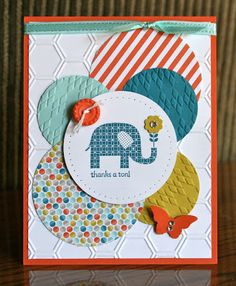 ******  Krystal's Cards and More: Pretty Trash  love all the circles and that some of them are embossed