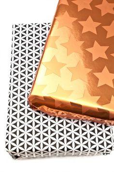 """Geschenkpapier """"Muster"""", schwarz/weiß, 70 cm x 2 m"""