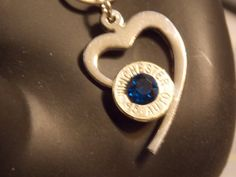 Bullet jewelry -HEART necklace -Shotgun shell Necklace -Bullets -Swarovski Crystal glass - made in the USA