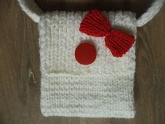 Handtaschen - gestrickte Tasche 16cm - ein Designerstück von babyknopf bei DaWanda