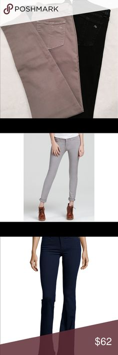 """LOT 2 pairs RAG & BONE skinny gray, High rise bell This is for TWO PAIRS of Rag & Bone Skinny Jeans. Both sized 29.  ASH SKINNY LEGGING * Ash Gray * 29"""" waist * 29"""" In seam  High Rise Bell * Dark Wash * 29"""" Waist * 35"""" in seam rag & bone Jeans"""