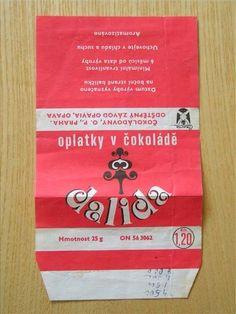 Oplatky - Dalida - oplatky v čokoládě. 25g za Kčs 1,20