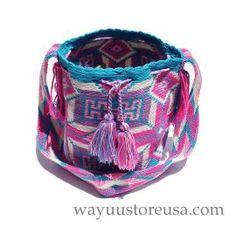 Authentic Crochet Wayuu Mochilas Crossbody 11 in.H x 9 in.W ~ 19 in. strap drop ~