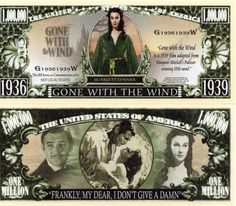 Gone with the Wind Million Dollar Novelty Money