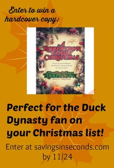 Savings in Seconds | A Robertson Family Christmas hardcover book giveaway – ends 11/24 | #anythinggoes #duckdynasty http://www.savingsinseconds.com