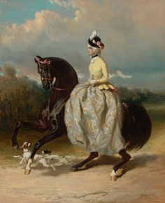 Femme En Costume Marie Antoinette Sur Un Cheval Caracolant Artwork By Alfred De Dreux Hand-painted And Art Prints On Canvas For Sale,you Can Custom The Size And Frame Painted Horses, Costume Marie Antoinette, Riding Habit, Side Saddle, Horse Drawings, Equine Art, Horse Art, Beautiful Horses, Art Day