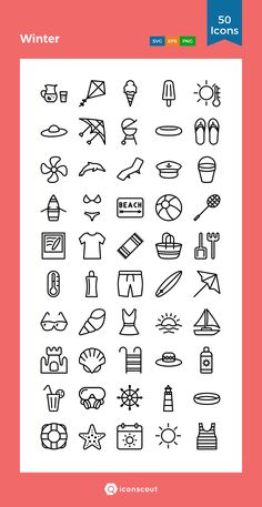Winter Icon Pack - 50 Line Icons Small Drawings, Doodle Drawings, Easy Drawings, Small Icons, Doodle Tattoo, Doodle Art Journals, Doodle Icon, Doodle Lettering, Sketch Notes