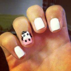 Cow nails. Nail design. Nail art