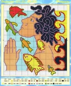Zodiac Solo Patrones Punto Cruz | Aprender manualidades es facilisimo.com