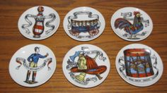 Vtg Lipper Mann Creations Collectors Plate Coasters Rooster Wagon Barber Pole | eBay The Collector, Barber, Rooster, Decorative Plates, Tableware, Check, Ebay, Home Decor, Dinnerware