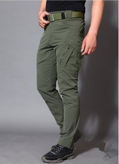 Army Military Pants Cotton Many Pockets Stretch Flexible Man Casual Trousers XXXL Slim Fit Trousers, Mens Trousers Casual, Casual Pants, Men Casual, Military Pants, Tactical Pants, Summer Pants, Online Fashion Stores, Cotton Pants