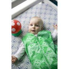 Sacco nanna in stile retro con stoffa a 'prati verdi' della trendy marca Olandese Club Geluk