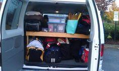 Shelf in back of Ragnar van