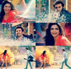 Deepika and Ranbir in Balam Pichkari - Yeh jawaani hai deewani Movie Shots, Meant To Be Together, Mean People, Ranbir Kapoor, Indian Celebrities, Reality Quotes, Deepika Padukone, Holi, Bollywood