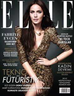 Fahriye Evcen for Elle Turkey January 2015