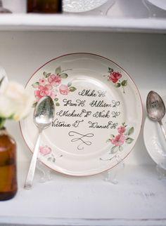 "vintage china ""escort cards"" | Tanja Lippert #LillyPulitzer #SouthernWeddings"