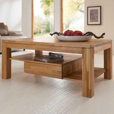 Wohnzimmer Couchtisch Aus Wildeiche Massivholz Schubladen Jetzt Bestellen Unter Moebelladendirektde Tische Couchtische Uid5e662fc2