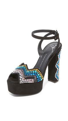Giuseppe Zanotti Embellished Heeled Sandals