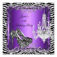 Classy Purple Bridal Shower Invitation Shower invitations