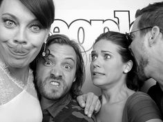 Who's got the best funny face? Nikita's Melinda Clarke goofs around with costars Aaron Stanford, Lyndsy Fonseca and Shane West before their much-awaited panel discussion.