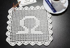 Șervețel Decorativ din Dantelă – BALANȚĂ alb cu zodii LIBRA doily. Home Appliances, House Appliances, Appliances