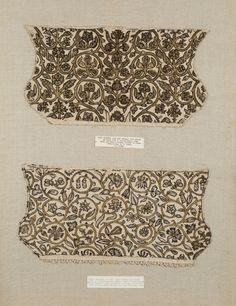 Women's coif      Place of origin:      Great Britain (made)     Date:      1600-1610 (made)     Artist/Maker:      Unknown     Materials and Techniques:      Linen embroidered with silver-gilt thread and sewn with silk thread and linen thread     Credit Line:      Given by Miss Agnus A. Hepburn and Mrs Margaret Owen     Museum number:      T.28-1975     Gallery location:      In Storage