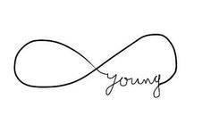 """""""forever young. Really want this tattoo on the back of my neck."""" this is cute"""