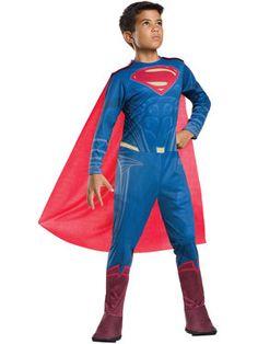 Batman V Superman: Dawn Of Justice - Tween Boys Superman Costume
