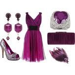 cute purple dress!!! with accessories